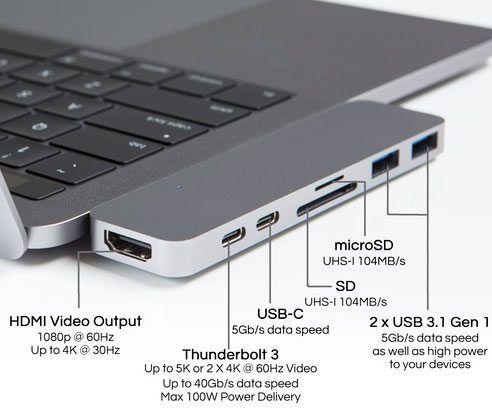 MacBook Pro Thunderbolt 3 USB-C Hub - https://tiwib.co/macbook-pro-thunderbolt-3-usb-c-hub/ #ComputerGeekery #gifts #giftideas #2017giftideas #xmas