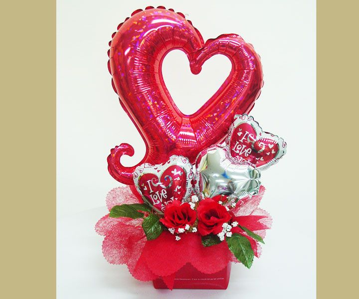 Happy valentine 39 s day balloon bouquet negro pinterest for Balloon decoration for valentines day