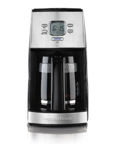 Hamilton Beach 43254R Ensemble 12-Cup Drip Coffeemaker by Ingram Micro CE. $55.73. Programmable clock/timer. Brew options include regular, bold and 1-4 cup. Compact, stainless steel design fits your space and your style. Drip-free carafe. Stainless steel for color-coordinated look. Hamilton Beach 10-12 Cup Coffeemakers make consistently fresh, flavorful coffee -- whether you're brewing a few cups or serving a large group. Attractive, functional and easy to clean, Hamilton Beac...