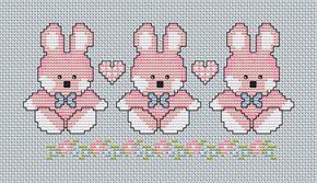 Cross Stitch PDF descargable gráfico bebé niña por Annieinstitches