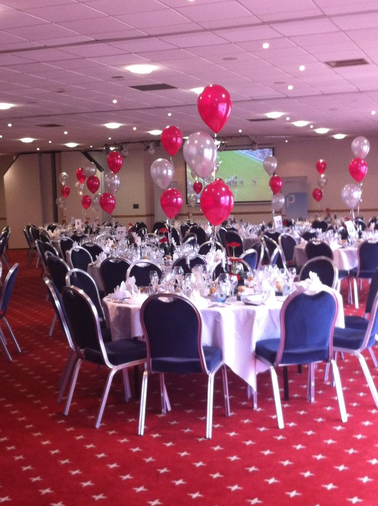 Beautifully Decorated tables for Premier Pensions 10th Birthday Party