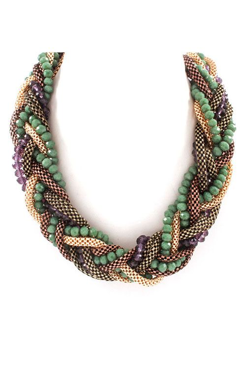 Alaya Necklace in Juniper on Emma Stine Limited
