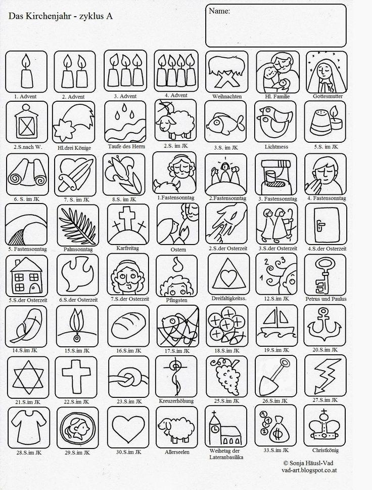 Ausmalbilder zur Bibel: Liturgischer Kalender für Kinder