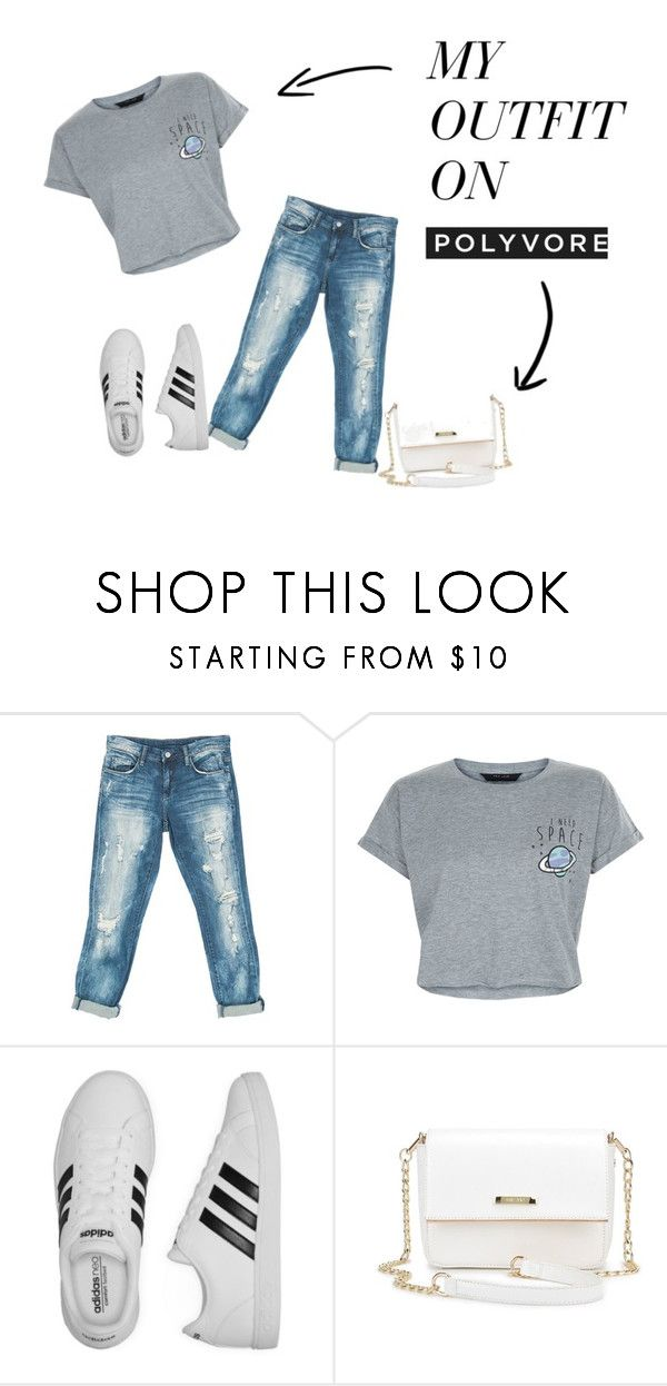 """no title"" by magdons on Polyvore featuring Sans Souci, New Look i adidas"