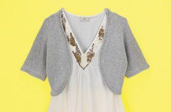 Bolero cardigan knitting pattern