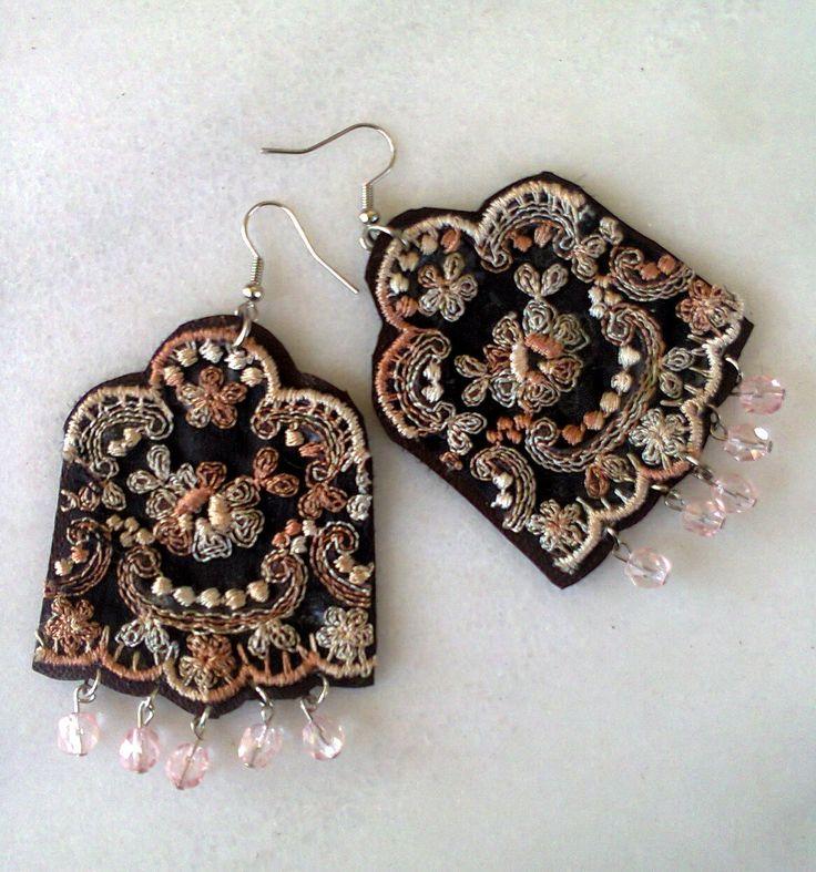 vintage lace earrings/KINZ jewelry
