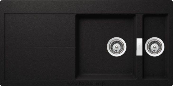 Eden D-150 Schock zlewozmywak konglomeratowy 500x1000 nero - EDED150NER  http://www.hansloren.pl/Zlewozmywaki-granitowe/Zlewozmywaki-1-komorowe/SCHOCK