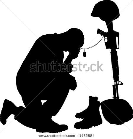 Soldier Silhouette clip art Free Vector / 4Vector