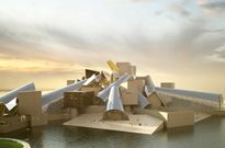 Guggenheim Abu Dhabi, east elevation, digital rendering, courtesy TDIC and Gehry Partners, LLP