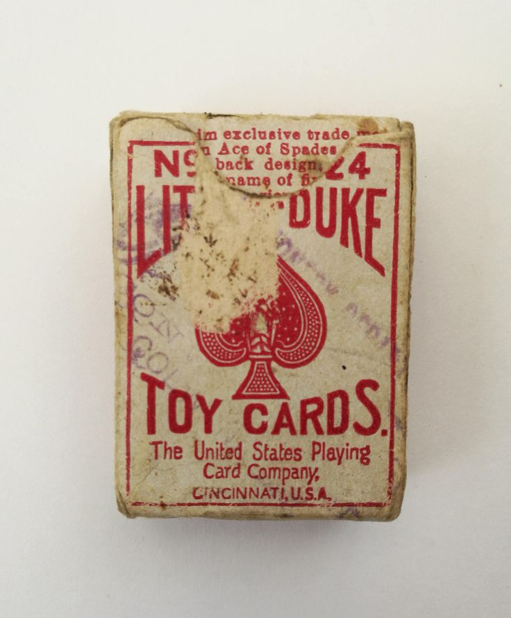 Antique Little Duke 24 United States Playing Card Company. Antique USPCC Little Duke 24 Playing Cards Complete With Joker, Original Box. by OnyxCollectables on Etsy