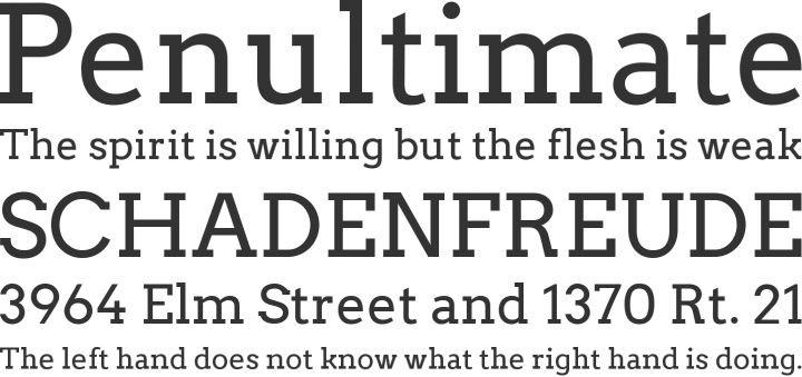 Arvo geometric slab serif typeface designed by German designer Anton Koovit. #typography