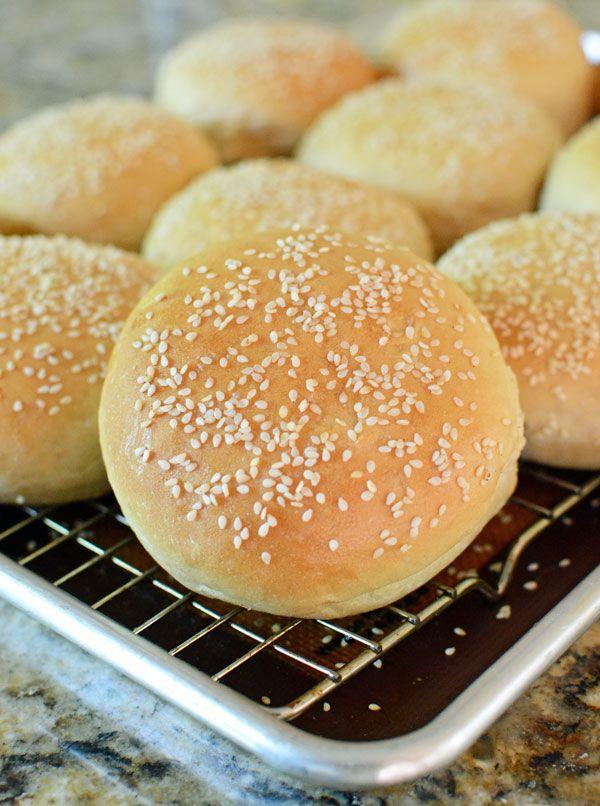 Soft Sesame Seed Hamburger Buns