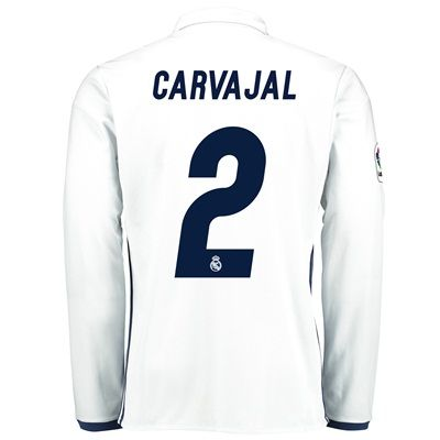 Image of Real Madrid Home Jersey 2016/17 - Long sleeve - with Carvajal 2 printi