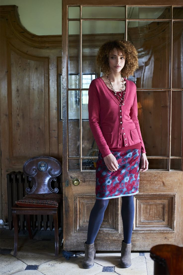Snooze You Lose Cardigan, Autumn Harvest Tee & Remaster Floral Cord Skirt  http://www.mistral-online.com/clothing-c50/knitwear-c7/snooze-you-lose-cardigan-with-pockets-brick-red-p24363  http://www.mistral-online.com/clothing-c50/t-shirts-c6/autumn-harvest-scoop-neck-tee-brick-red-p23329  http://www.mistral-online.com/clothing-c50/skirts-c4/remaster-floral-cord-skirt-dark-grey-multi-p27847