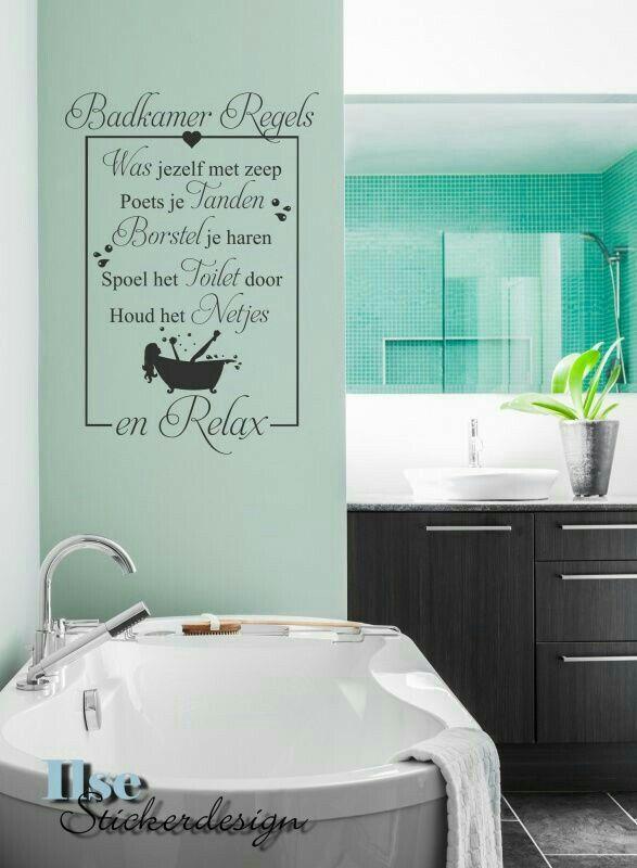 Badkamer regels..