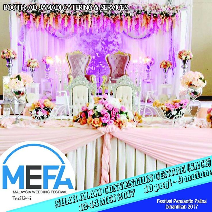 Malaysia Wedding Festival (MEFA)® 12-14 MEI 2017 #shahalamconventioncentre 10am-9pm �� Semua vendor perkahwinan �� 1000 Perfume Percuma Untuk Pengunjung Terawal �� Beli & wajib menang  99% for Malay Wedding . . Official Partner: @projekkahwinmy Main Stage: @ksentourage_official Main Activity: @epie_temerloh . Venue: @shahalamconventioncentre Official Photo&Video: @eddiephotovideo Live Feed: @krulmatric Sponsor: @bungabeetle @greatcreation.com.my . #malaysiaweddingfestival #MEFA2017…