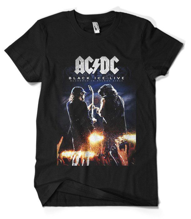 ACDC T-Shirt Merch official licensed music t-shirt. Gildan Unisex SoftStyle S, M, L, XL. Free shipping USA, UK and worldwide.