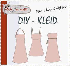 Tolle Anleitung um ein Kleid zu nähen. Erklärung mit Maßband, ohne Schnittmuster. Super!