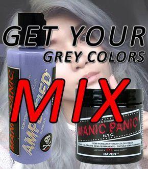 Get Your Grey Colors  Mix Manic Panic Virgin Snow With Raven  http://binkdotz.com/manic-panic-store/