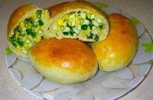 Пышные пирожки с зеленым луком и яйцом   Мой садочек