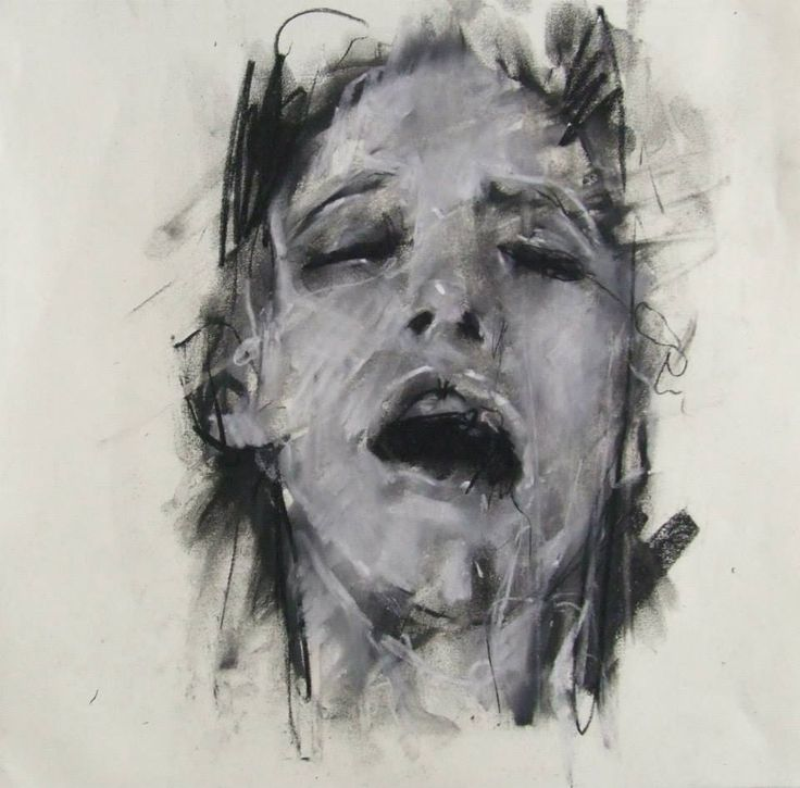 "Guy Denning - ""coming"" / conte, pastel and chalk on paper 30 x 30 cm – 2013"