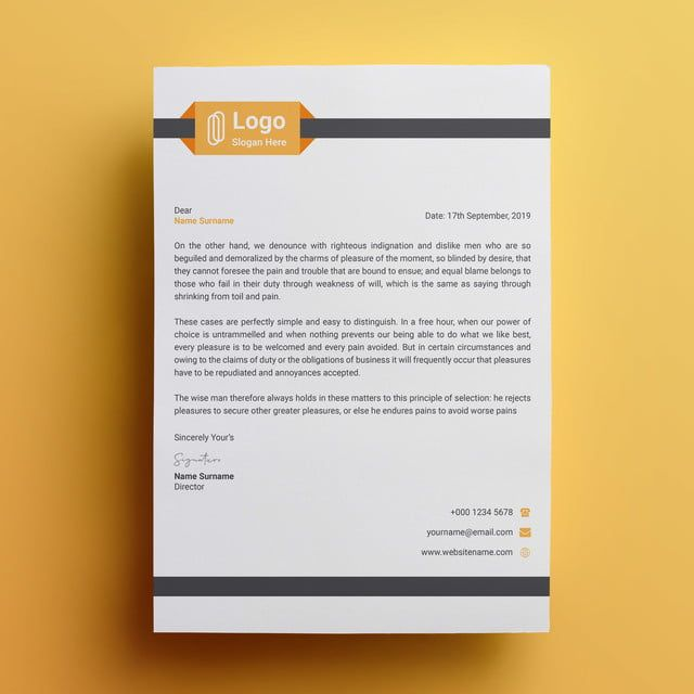قالب تصميم ترويسة الشركات Letterhead Design Design Template Templates