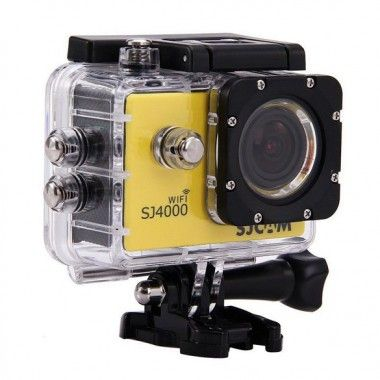 Yellow SJCAM SJ4000 WiFi 1080P HD Outdoors Digital Action Camera Sport DVR