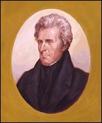 Andrew Jackson   He was the first president to ride on a railroad train, the first to be born in a log cabin and the first president to be nominated by a political party. He is known historically for creating a strong executive branch.