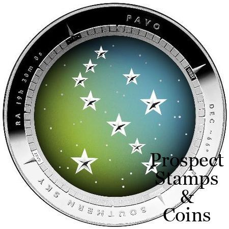 Royal Australian Mint :: 2013 Coin Releases :: 2013 Southern Sky - Pavo 1oz Five Dollar Silver Proof Domed Coin