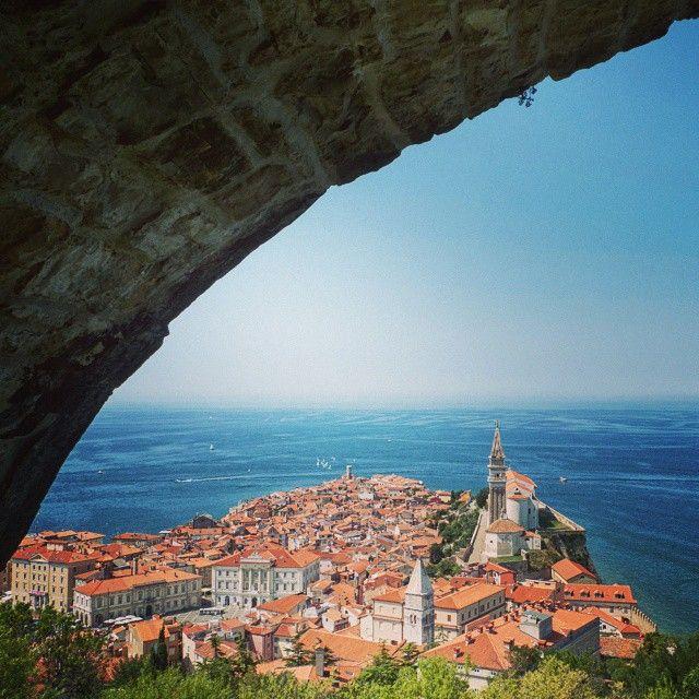 podróże, Piran widok na miasto