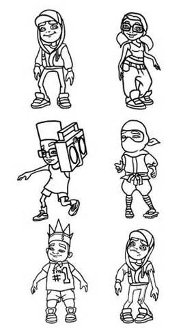 Image result for printable subway surfers coloring pages