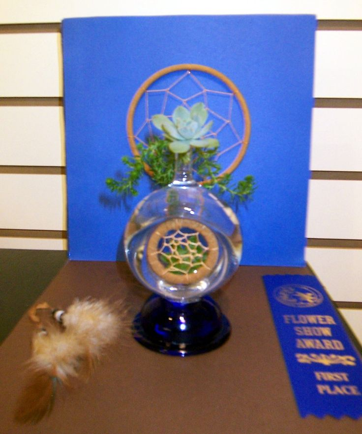 "The Garden Club of Ellijay's flower show, ""Cherokee Beauty"" First place Petite Transparency winner, Janice Hall"