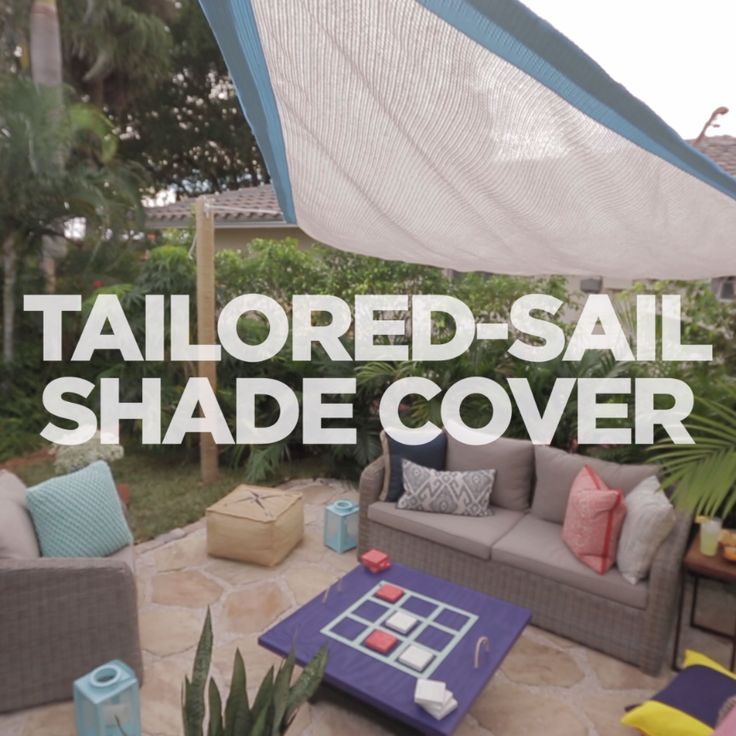 5 DIY Ways To Add Shade To Your Deck Or Patio | Sail Shade, Backyard And  Patios