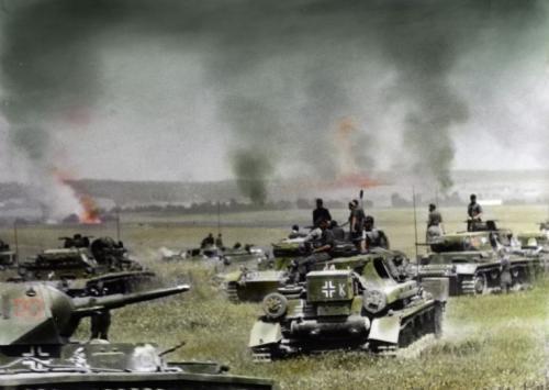 Tanks of Panzergruppe Kleist during Operation Barbarossa, 1941
