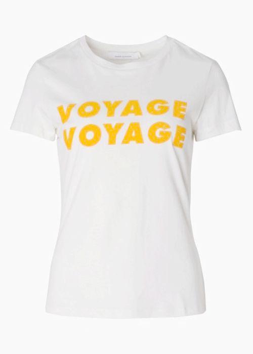 8057 Izzy Tee Creme Voyage / Køb Samsøe T-shirt Online