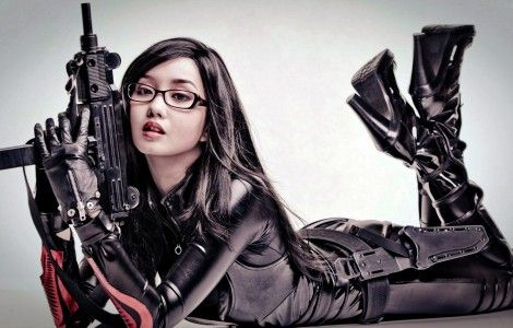 Sexy Asian Girls With Gun