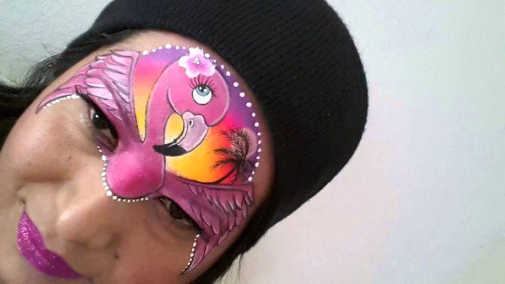 Afbeeldingsresultaat voor face paint flamingo