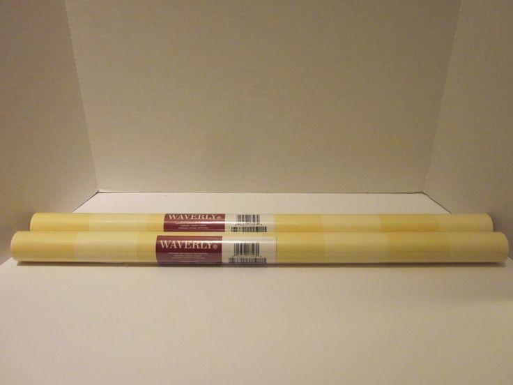 Waverly Wallpaper 2 Double Rolls Yellow Striped 27''x 9 Yards 572842 New #Waverly