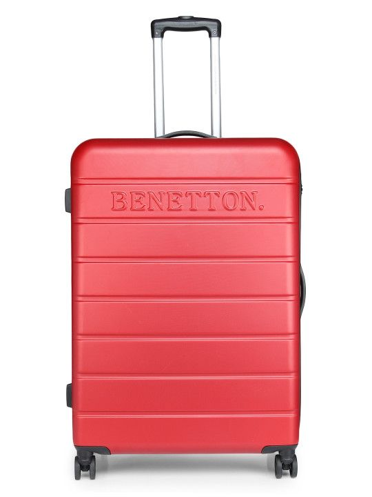 840bf0d9e3d3 United Colors of Benetton Unisex Red Large Trolley Suitcase -