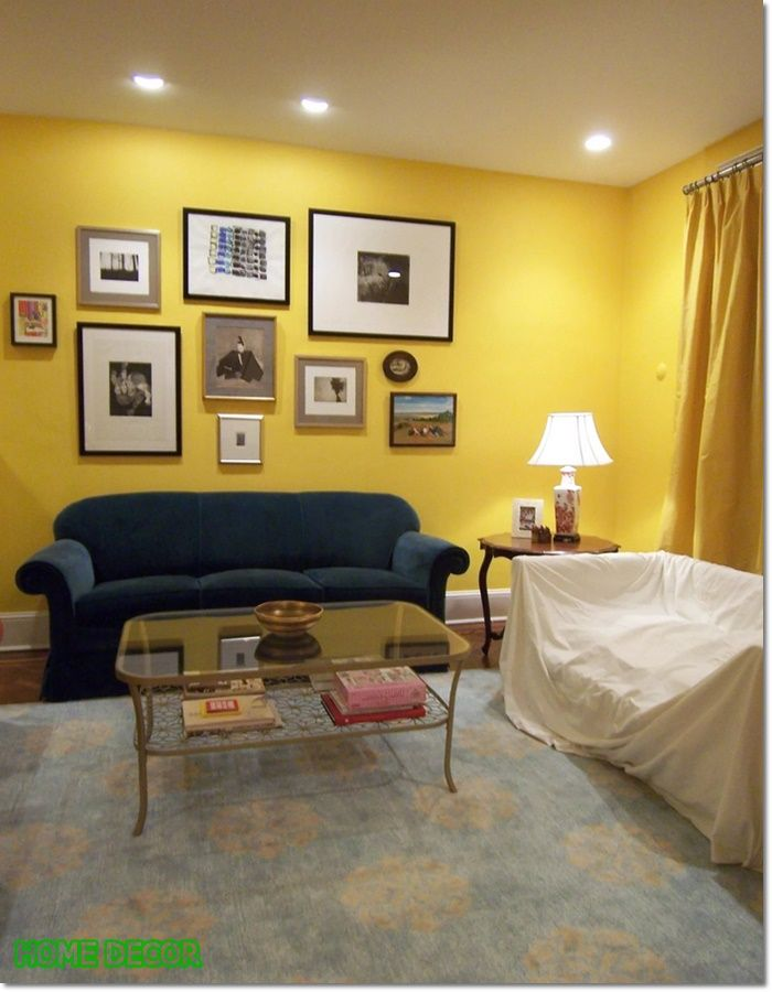 Yellow Walls Living Room, What Color Walls With Yellow Curtains