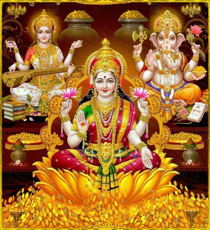 Namo Lakshmi MAA, Saraswati , Ganpati.