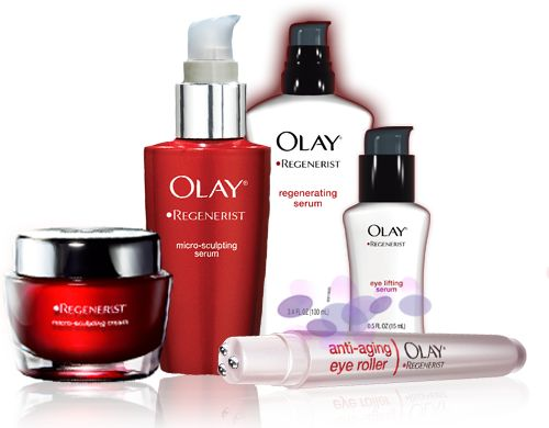 Olay facial products