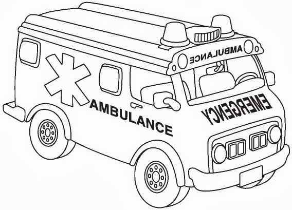 ambulance coloring pages and building coloring pages - Ambulance Pictures To Colour