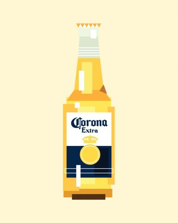 Icobeer Corona Beer Bottle