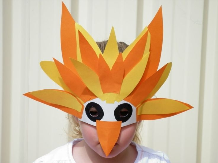 Einfache Vogel Maske aus Papier