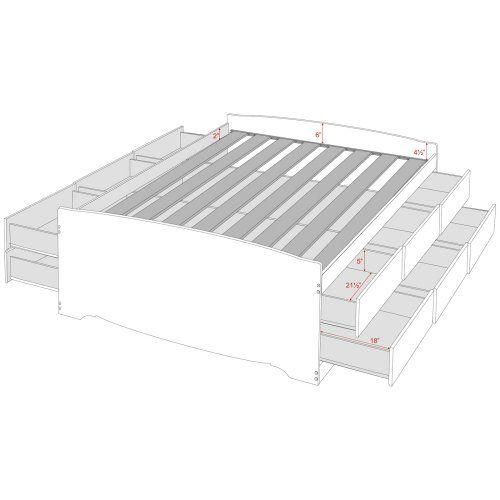 Prepac Tall Storage Platform Bed