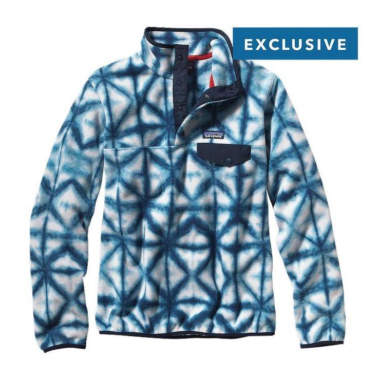 Patagonia Women\'s Synchilla\u00AE Lightweight Snap-T\u00AE Fleece Pullover - Diamond Dancer: Navy Blue DMCN
