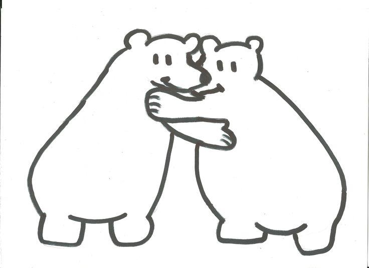 Intro : Week van de vriendschap :geef elkaar een wangknuffel. knuffel met je wangen