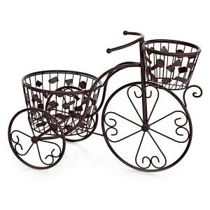 Bicicleta vintage metal dos macetas  http://www.lallimona.com