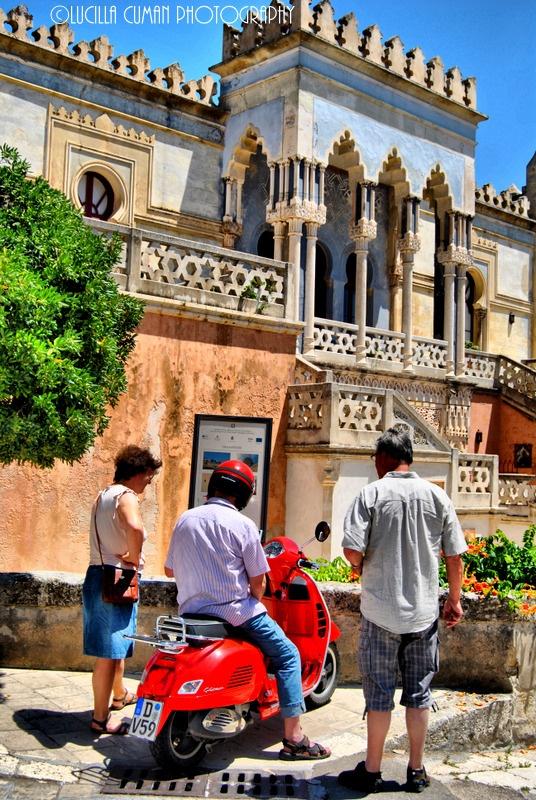 In front of Palazzo Sticchi, Santa Cesarea Terme. Puglia